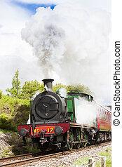 trem, strathspey, escócia, estrada ferro, altiplanos, vapor