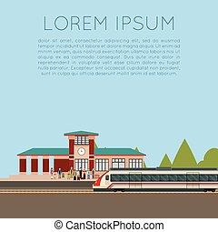 trem, suburbano, estação