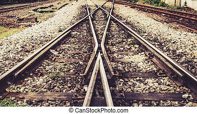 trem, trilho, maneira