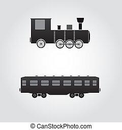trem vagão, eps10, locomotiva