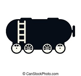 trem vagão, tanque