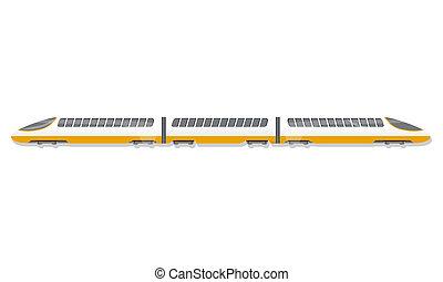 trem velocidade alto, ícone, caricatura, estilo