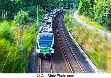 trem velocidade alto, modernos