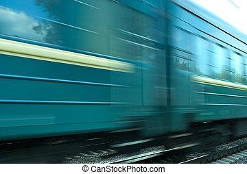 trem, velocidade, fundo