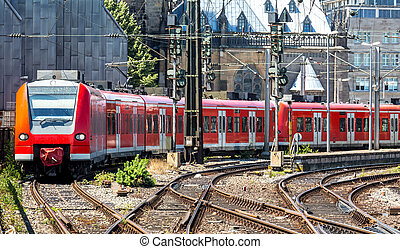 trem vermelho
