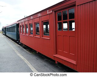 trem, vermelho