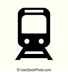 trem, vetorial, ícone