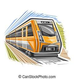 trem, vetorial, logotipo