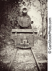 trem, vindima, imagem, antigas