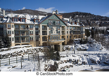 tremblant, mont, スキー, villag