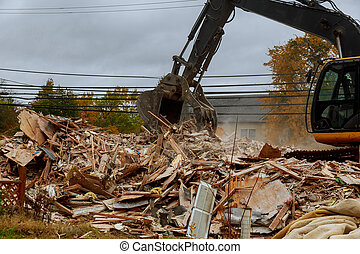 tremblements terre, fissures, vieux, abandonnés, mur, maison, house., maisons, destroyed., cassé, inapte, économique, houses., crise, destruction