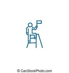 Tremendous achievements line icon, vector illustration. Tremendous achievements linear concept sign.