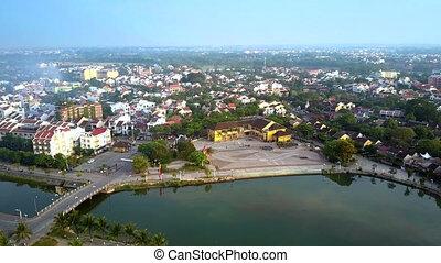 tremendous boundless panorama ancient city Hoi An -...