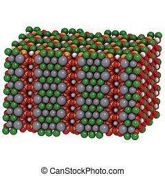 Tremolite asbestos, crystal structure