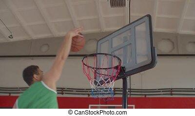 tremper, partition, joueur, claquement, après, défaut, basket-ball