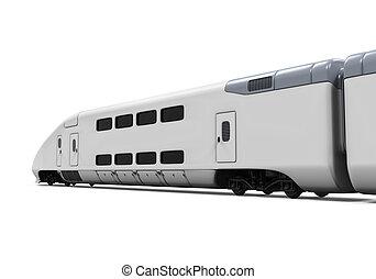 tren, aislado, bala