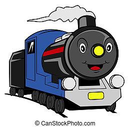 tren, caricatura
