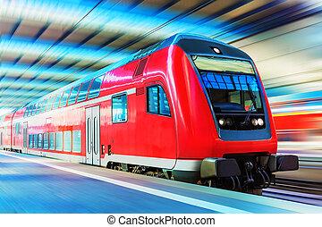 tren de alta velocidad, moderno