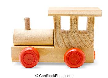 tren de madera, juguete