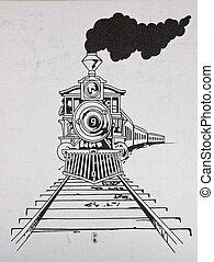 tren, dibujo