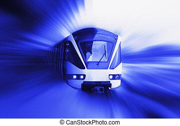tren, mudanza
