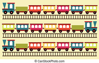 tren, patrón, juguete, plano de fondo
