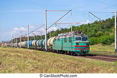 tren, petróleo, carga