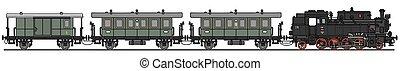 tren, vapor, clásico