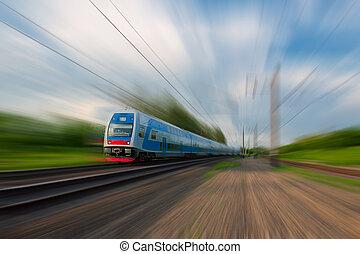 tren, viajero