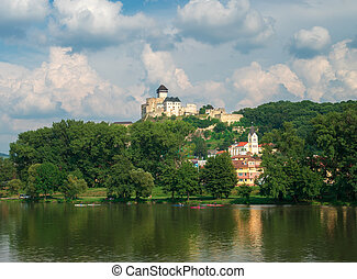 Trencin Castle, Slovakia - Trencin is a small town in...