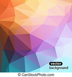 Trend Design abstract background geometric color decor