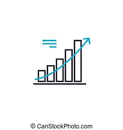 Trend analysis vector thin line stroke icon. Trend analysis outline illustration, linear sign, symbol concept.