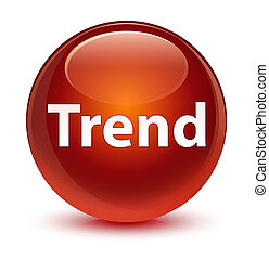 Trend glassy brown round button