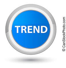 Trend prime cyan blue round button