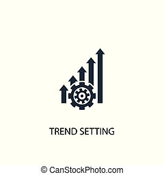 trend setting icon. Simple element illustration. trend...