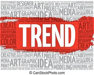 TREND word cloud, creative