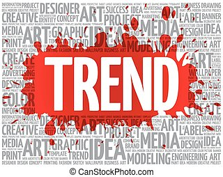 TREND word cloud, creative concept