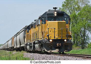 trende carga, locomotora