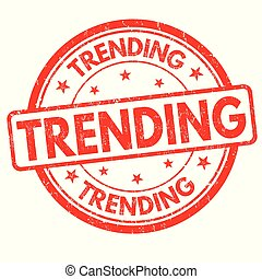 Trending grunge rubber stamp