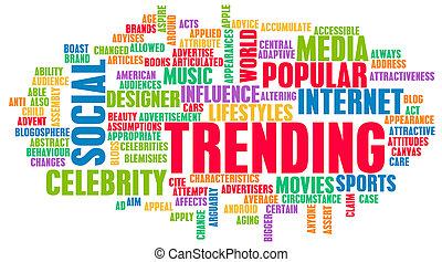 Trending Online and Digital Business News Art