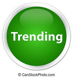 Trending premium green round button