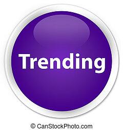 Trending premium purple round button
