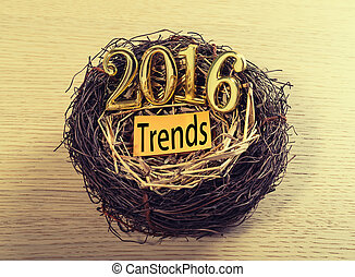 Trends 2016 concept