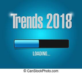 trends 2018 loading bar illustration design