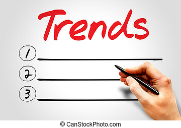 TRENDS blank list, business concept