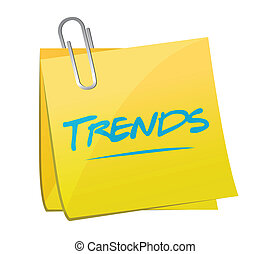 trends post memo illustration design over a white background