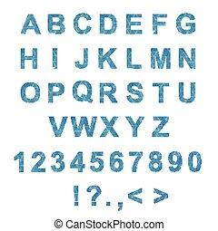 trendy, 类型, 字体, 现代