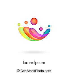 trendy abstract, vibrant and colorful icon