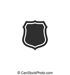 trendy, apartamento, estilo, escudo, ícone