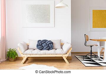 Trendy arrangement of modern furniture